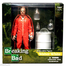 MEZCO - BREAKING BAD - WALTER WHITE IN HIS ORANGE HAZMAT SUIT-15CM - BRAND NEW