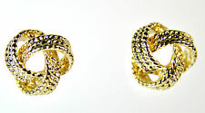 ELEGANT LADIES GOLD STUD EARRING BRAND NEW EVENING / PARTY WEAR (CL7)