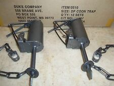 2 (Non-Powder Coated) Duke DP Dog Proof Coon Traps 0510 Type  Trapping  Raccoon