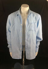 Men's Pure Linen Long Sleeved Shirt, from Blue Harbour (M&S) Size L