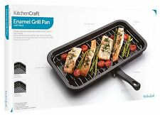 Kitchen Craft 40cm x 23cm Enamel Non-Stick Replacement Oven Tray Grill Pan