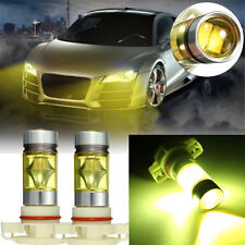 2x PS24W H16 5202 100W LED 3000K YELLOW Projector Fog Driving Light Bulbs