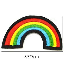 New Gay Pride Lesbian Rainbow Cool Flag Retro Love LGBT Applique Iron-on Patch