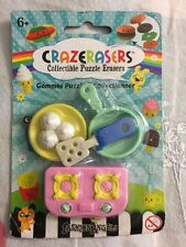 New CRAZERASERS Collectible Puzzle Erasers 4 Pieces