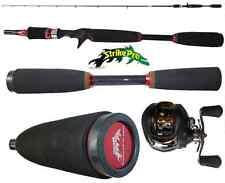 kit canna bait casting 1.85m + mulinello rotante pesca black bass spigola luccio