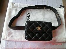 100%% Authentic Chanel Handbag -AGNEAU Fanny Pack Small Size""