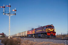 543014 South African Railways Freight Leaving Orange River A4 Photo Print