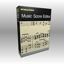 La musique éditeur de partition writer-logiciel de notation théorie programme d'ordinateur