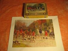 "VINTAGE TUCO PICTURE PUZZLE 200+  PCS.   WOOD LIKE  ""AWAITING THE CALL"""