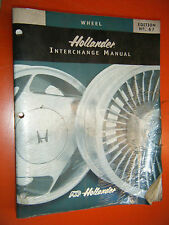 1988-2001 HOLLANDER WHEEL INTERCHANGE MANUAL 67TH EDITION DOMESTIC IMPORT