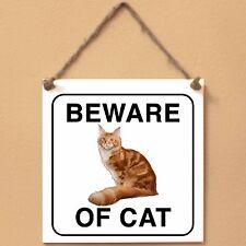 Maine Coon Beware of cat Targa gatto cartello ceramic tiles