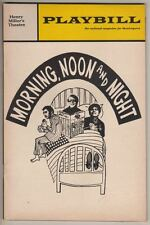 """Playbill """"Morning, Noon and Night"""" 1968 OPENING NT Robert Klein, Charlotte Rae"""