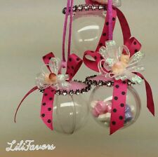 12 Fillable Pacifiers For Baby Shower Pink Party Decorations Girl Favors