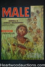 Male Sep 1957 DeSoto WWII cover / Rudy Nappi, Pollen, Schulz - Ultra High Grade-
