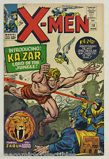 X-Men #10 1965 1st Appearance Ka-Zar Zabu Savage Land Stan Lee Jack Kirby Marvel