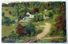 POSTCARD ROADWAY AND TEA HOUSE HILLS DALE DAYTON OHIO #aok8