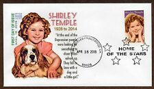 SHIRLEY TEMPLE ~ LEGEND OF HOLLYWOOD STAMP ~ GLEN CACHET ~HOLLYWOOD CANCEL#2 FDC