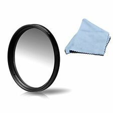 58mm Graduated ND Neutral Density Filter Gradual Grey For All 58 MM Lens w Cloth