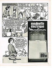 PUBLICITE ADVERTISING  1969   MOULINEX  moulinette éléctrique