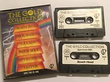THE GOLD COLLECTION SINCLAIR ZX SPECTRUM 48K TAPE GAMES COMPILATION ZAXXON BUCK