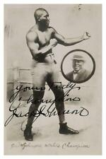 Jack Johnson **LARGE POSTER** Boxing Heavyweight Champ 1914 signed autograph