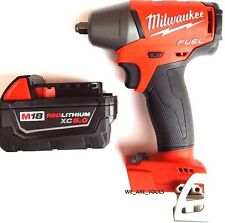 Milwaukee M18 2754-20 FUEL 3/8 Impact Wrench, (1) 48-11-1850 5.0 Battery 18 Volt