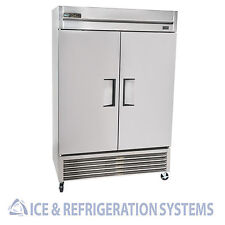 TRUE COMMERCIAL DOUBLE DOOR REACH IN REFRIGERATOR COOLER T-49