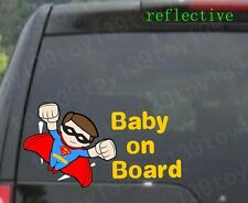 "FOR car / Baby Superman ""BABY ON BOARD"" Vinyl  Decal Sticker window / reflective"