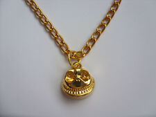 Handmade Gold Nightmare Before Christmas Jack Skellington Necklace