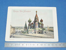 RARE GRAND CHROMO CACAO VAN HOUTEN 1895-1905 MOSCOU CATHEDRALE SAINT-BASILE RUSS