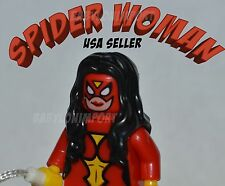 Custom SDCC Marvel Super Heroes  Spider Woman Minifigure WEB WARRIORS FITS LEGO