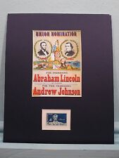 1864 - Abraham Lincoln runs for President honored by his own stamp