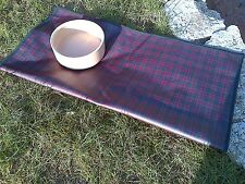 TARTAN HOME - NEW TABLECLOTH/SPLAT MAT - MCDONALD OILCLOTH SQUARE CORNERS-  28""