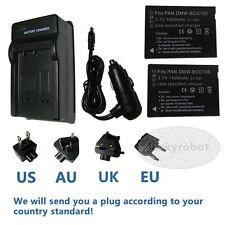 2X DMW-BCG10E Battery+charger For Panasonic Lumix DMC-TZ6 TZ7 TZ30 TZ65 TZ66
