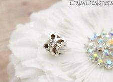 Authentic PANDORA Sterling Silver LATTICE FLOWER Clear Charm 790260CZ RETIRED
