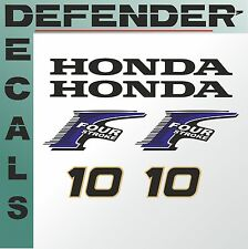 Honda 10 hp Four Stroke outboard engine decal sticker set kit reproduction 10HP
