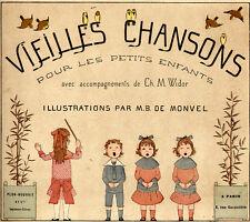 Boutet de Monvel, Maurice. vieilles chansons pour les petits enfants paris. 1883