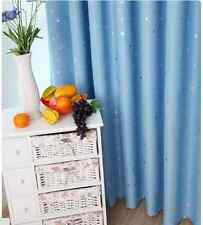 Kids Room Solution - Blockout Eyelet Curtains 180cm x 230cm (Drop) Sky Blue star