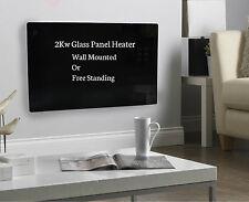 2KW Noir Support Mural Libre Portable LCD électrique Panneau De Verre Radiateur