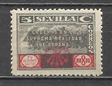 8002- SELLO LOCAL GUERRA CIVIL SOBRETASA NACIONAL SEVILLA 1937 FALANGE ESPAÑOLA
