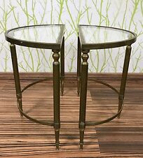 50er 60er Jahre Beistelltische Messing Brass Side Tables 60s 50s Design France