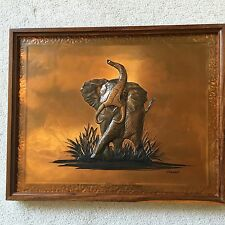 Dennis Thompson Copper Elephant Vintage 1960s African Elephant Wall Plaque Art