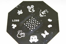 Stamping Device Nail Art Plate Mickey LO08