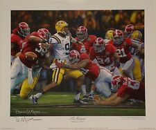 "Alabama 2011 National Championship ""The Shutout"" signed Daniel Moore print"