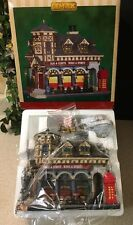 "New! Lemax Christmas Village Lighted BIG BEN PUB"" Bar Hard To Find!"