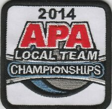 APA POOL PATCH 2014 LOCAL TEAM CHAMPIONSHIPS