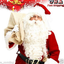 DLX Santa Claus Beard + Wig Set Father Christmas Fancy Dress Costume Accessory