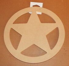 "Art Minds by Michaels 9""x 3/8"" Circle With A Star in Center Wood Craft Item 16M"