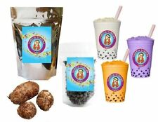 10+ Drinks Taro Boba Tea Kit: Tea Powder, Tapioca Pearls & Straws