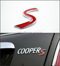 Cooper S Badge Emblem Decal Letters Sticker Mini Boot Lid Tailgate Rear Trunk 36